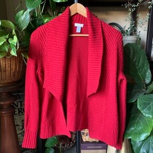 Chico's waterfall front sweater